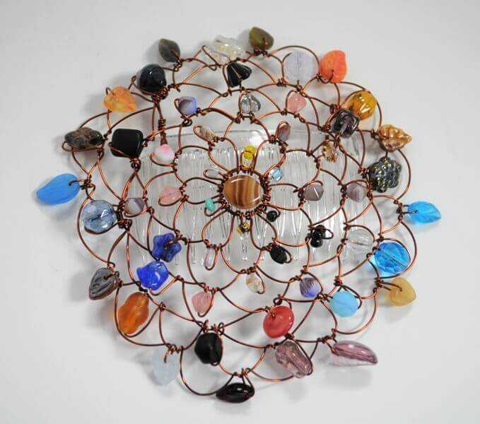 Brown Earth Wire Kippah