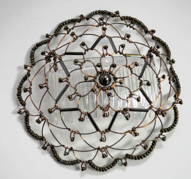 Bronze Star of David Wire Kippah