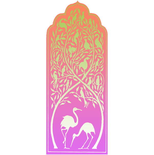 Birds Car Mezuzah by Mickie Caspi