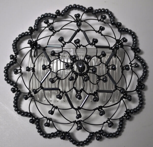 Black Gunmetal Star of David Wire Kippah