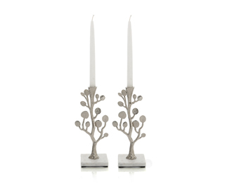 Botanical Leaf Candlesticks, by Michal Aram