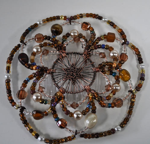 Chocolate Sundae Beaded Wire Kippah