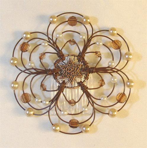 Chocolate Sundae Light Beaded Wire Kippah