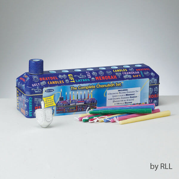 Complete Chanukah Travel Kit with Candls