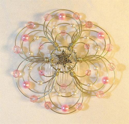 Cotton Candy Light Beaded Wire Kippah