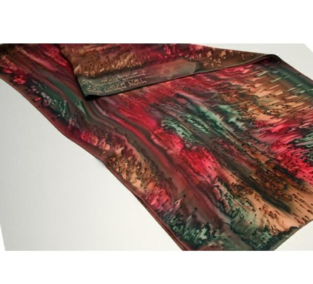 Watercolors Silk Tallit, Earthtones
