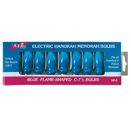Bulbs for Electric Menorah Blue Flame