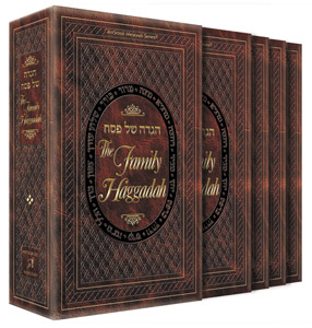 Family Haggadah Leatherette Boxed Set