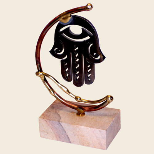 Hamsa Small Sculpture, by Gary Rosenthal