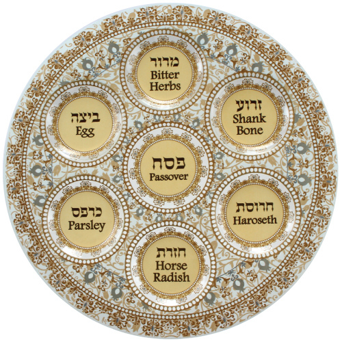 Frosted Glass Seder Plate