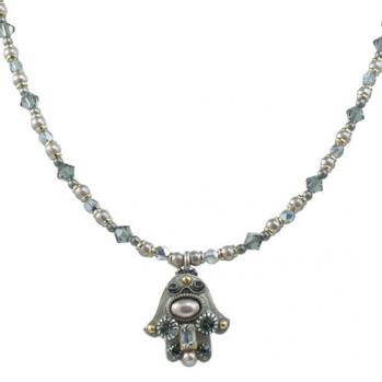 Small Silver Brilliant Hamsa, by Michal Golan