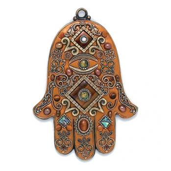Tiger's Eye Wall Hamsa, by Michal Golan