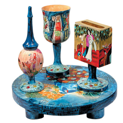 Bride and Groom Chagall Havdalah Set, by Yair Emanuel