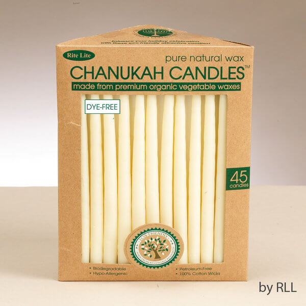 Ivory Organic Vegetable Wax Chanukah Candles