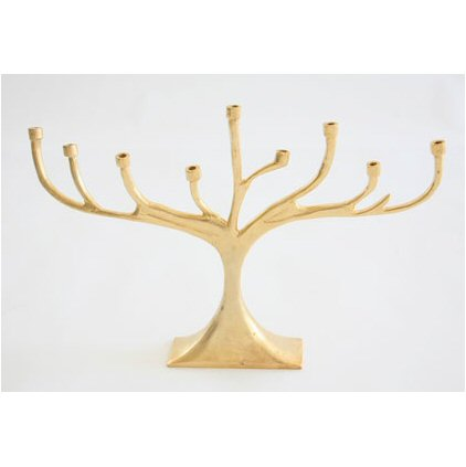 Lunares Tree Menorah Gold