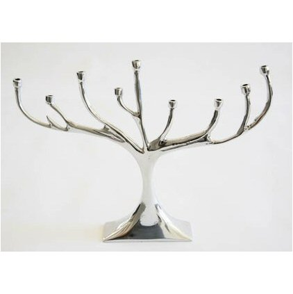 Lunares Tree Menorah Silver