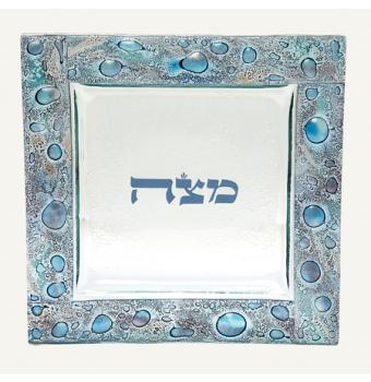 Mediterranean Sea Glass Matzah Plate, by Tamara Baskin
