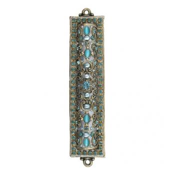 Sparkling Cat\'s Eye Mezuzah, by Michal Golan