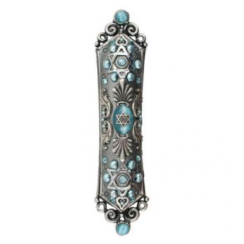Cat's Eye and Fresh Water Pearls Mezuzah, by Michal Golan
