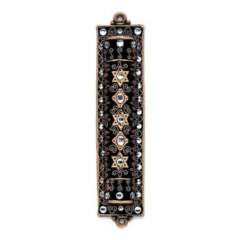 Black Enamel and Glass Mezuzah, by Michal Golan