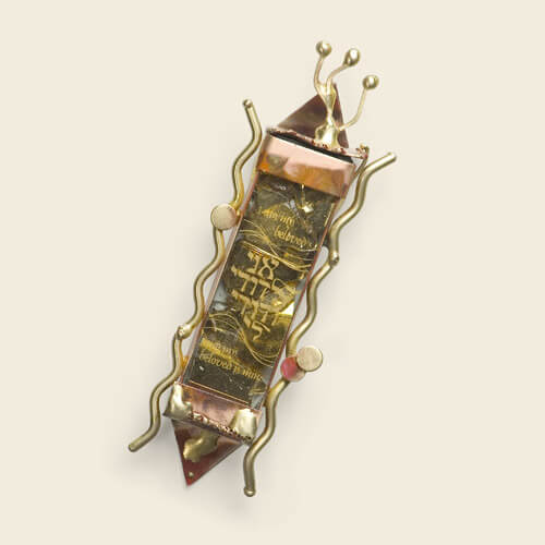 50th Golden Anniversary Mezuzah, by Gary Rosenthal