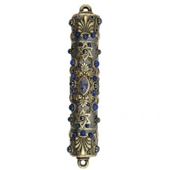 Sodalite and Abalone Mezuzah, by Michal Golan