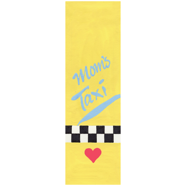Mom's Taxi Car Mezuzah by Mickie Caspi