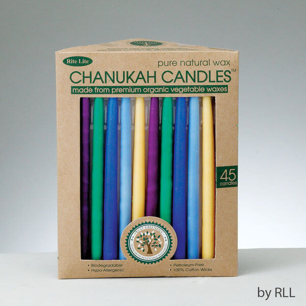 Multi-Colored Organic Vegetable Chanukah Candles