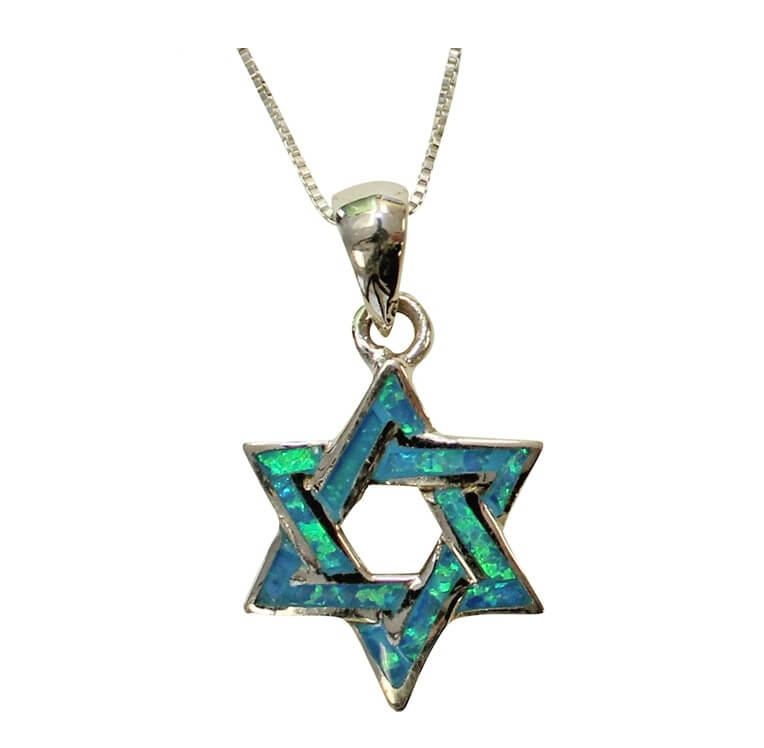 Woven Opal Star of David