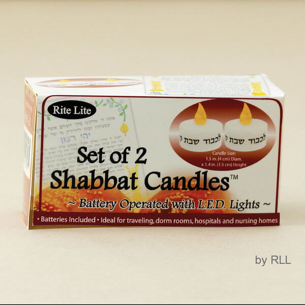 Battery Operated Shabbat Candles-Travel Set