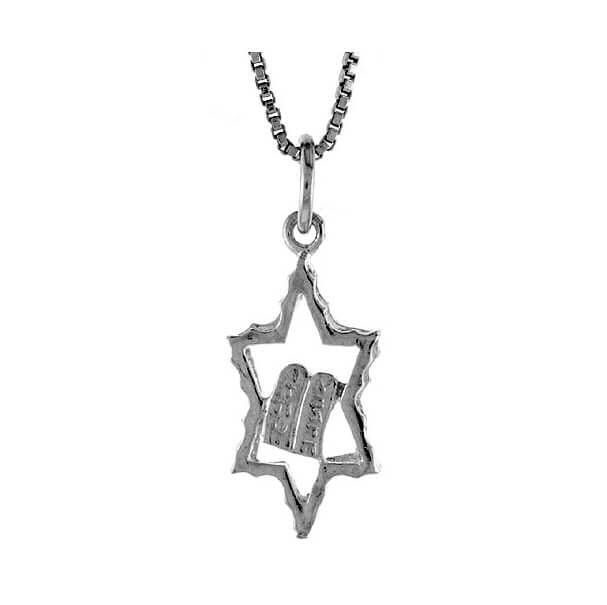 Star of David with Ten Commandments
