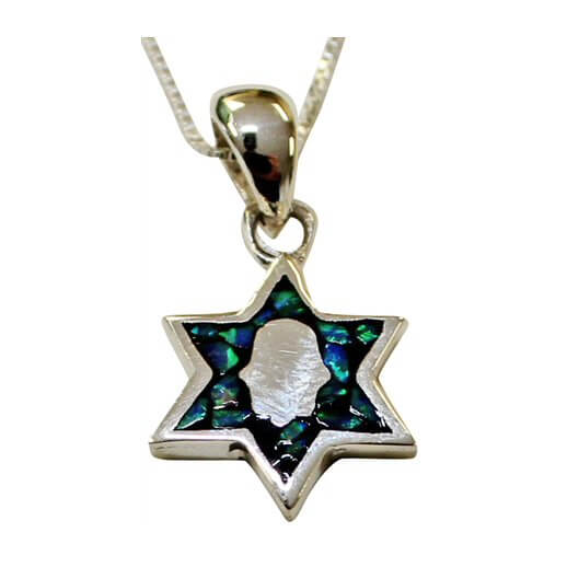 Opal Star of David with Hamsa