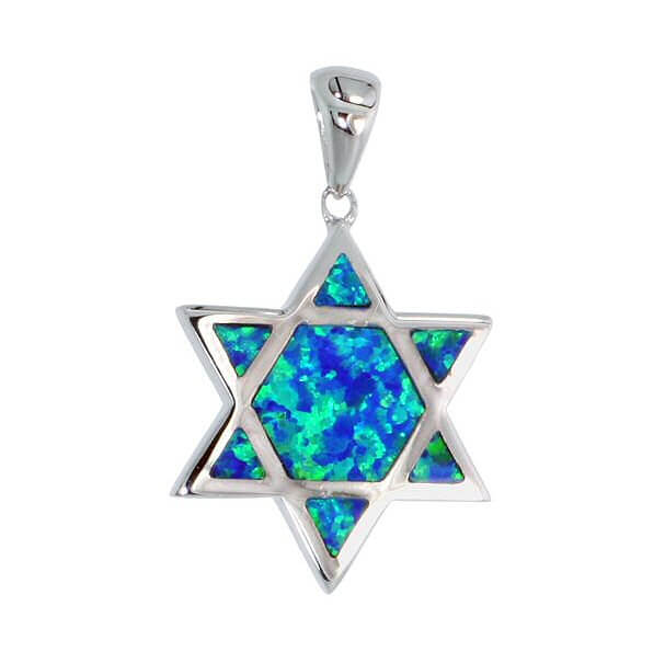 Fire Opal Star of David