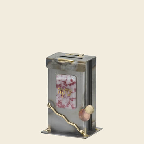 Breast Cancer Awareness Tzedakah Box, Small, by Gary Rosenthal